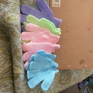 X foliating gloves